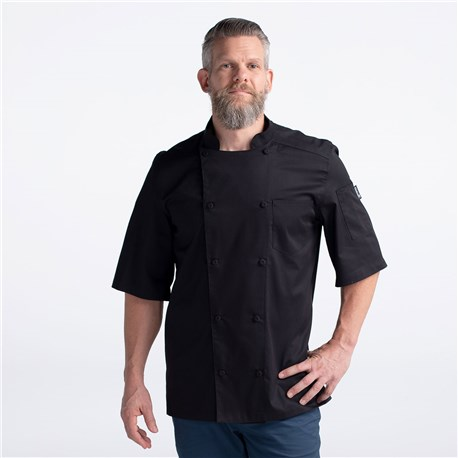 CW5612-CW30-01_Chefwear-Vented-Lightweight-Chef-Coat_Black