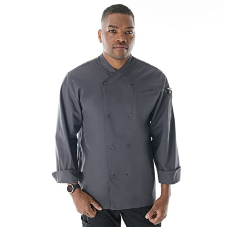 Unisex Classic Long Sleeve Crossover Collar Chef Coat (CW5712)