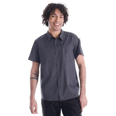 Unisex Modern Essential Short Sleeve Camp Shirt (CW4325)