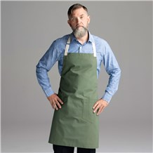 Chefwear Army Green Bib Apron for Chefs and Cooks, Chef Wear Style CW1692