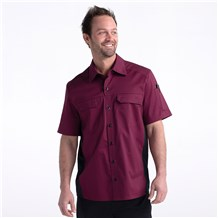 Prime Chef's Work Shirt (CW4322) - Color Wine