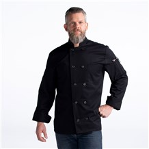 CW4410-CW30-01_Chefwear-Long-Sleeve-Plastic-Button-Chef-Jacket_Black