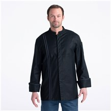 Stretch Teflon Chef Jacket (CW5635) - Color Black - Chef Coat