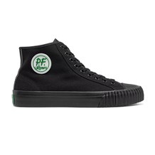 Black Hi Top PF Flyers Sandlot Slip Resistant Work Shoe. Ideal for Chefs, Cooks and Kitchen Staff