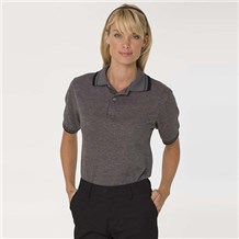 Coed Diamond Jacquard Polo Heather Grey (685)