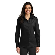 Women's L/S Carefree Poplin blouse (CW1338)