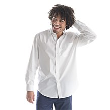 Men's Slim Long Sleeve Stretch Poplin Shirt (CW1360)