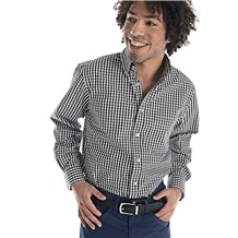 Men's Slim Long Sleeve Stretch Gingham Shirt (CW1362)