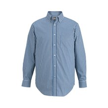 Men's Long Sleeve Stretch Gingham Shirt (CW1362)