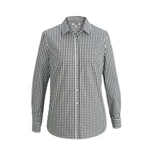 Women's Slim Long Sleeve Stretch Gingham Shirt (CW1363)