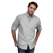 Men's Classic Long Sleeve Easy Care Gingham Shirt (CW1364)