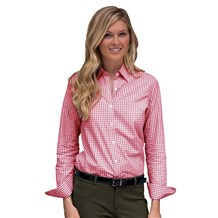 Women's Classic Long Sleeve Easy Care Gingham Shirt (CW1365)