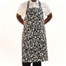 Classic Cotton Bib Apron (CW1650H) [Scary Collage]