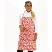Classic Cotton Bib Apron (CW1650H) [Holiday Collage]