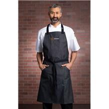 Fair Kitchens Memphis Bib Apron (CW1677FK) - Midnight