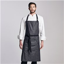 Extra Coverage Denim Bib Apron (CW1677)