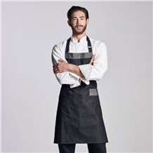 Denim Multi-Pocket Bib Apron (CW1678)