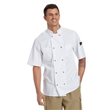Unisex Classic Short Sleeve Blend Snap Front Chef Coat (CW4310)