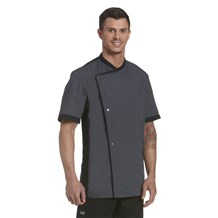 Unisex Classic Short Sleeve Cooling Snap Front Chef Coat (CW4315)