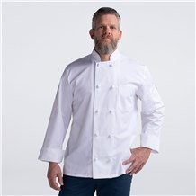 Unisex Classic Long Sleeve Essential Cloth Knot Chef Coat (CW4400)