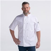 Unisex Modern Short Sleeve Essential Cloth Knot Chef Coat (CW4450)