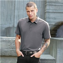 Men's Slim Short Sleeve Cotton Blend Wicking Polo (CW4604)
