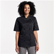 Women's Modern Short Sleeve Lightweight Stretch Chef Coat (CW5122)