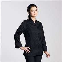 Women's Modern Long Sleeve Designer Cotton Chef Coat (CW5225)