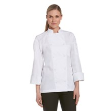 Women's Long Sleeve Vented Lightweight Chef Coat (CW5665)