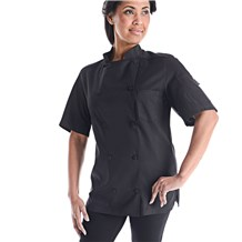 Women's Classic Short Sleeve Vented Lightweight Chef Coat (CW5666)