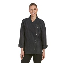 Women's Lightweight Denim Crossover Chef Jacket (CW5885)