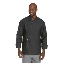 Lightweight Denim Crossover Chef Jacket (CW5886)