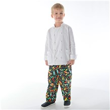 Unisex Kids Ultimate Cotton Chef Pant (CW8200) [Pick-A-Pepper]