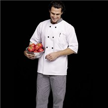 Coed Mid-Sleeve Chef Coat (ID0117)