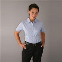 Women's Basil Short Sleeve Twill Shirt (ID0625)