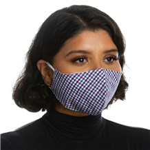 Face Mask (L10001) - Navy Plaid - 3 Pack