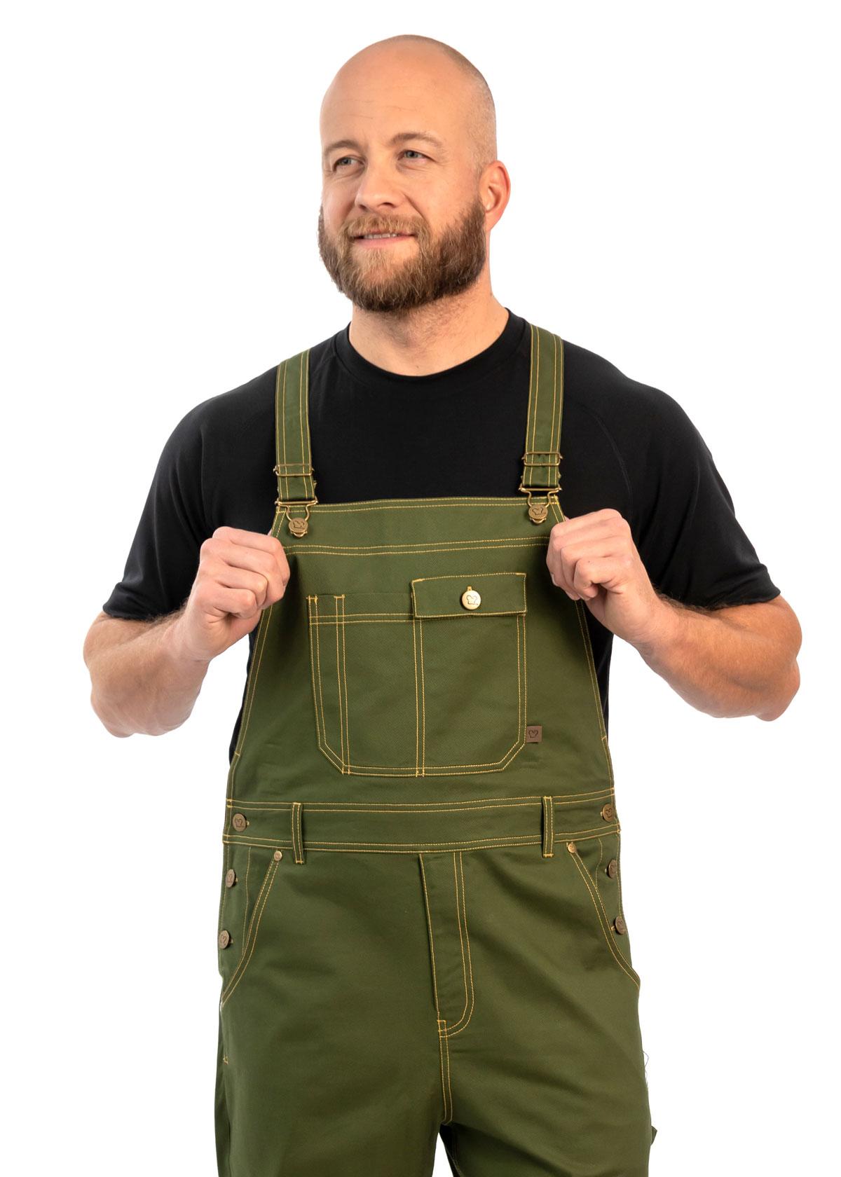 Unisex Classic Stretch Twill Chef Overalls (CW3405)