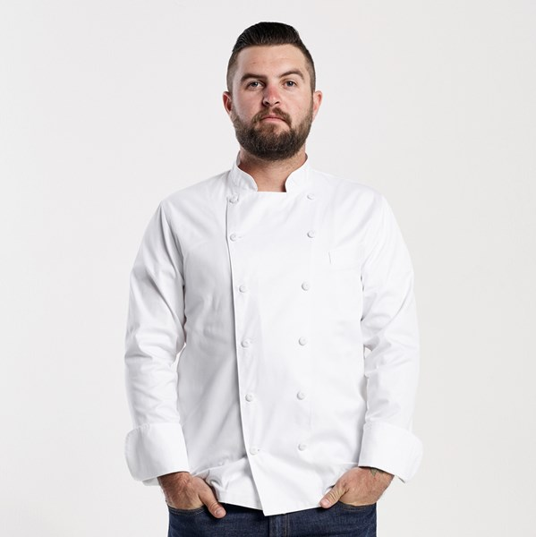Men's Long Sleeve Executive Euro Fit Chef Coat (CW4101)