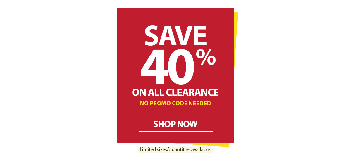 40% OFF Clearance